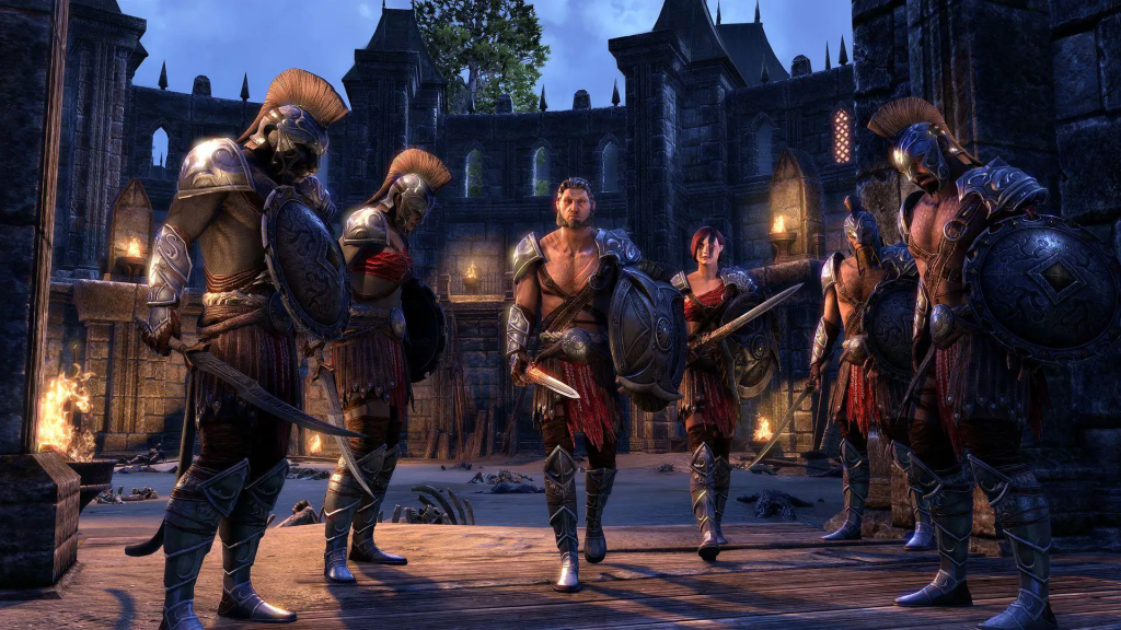 Group of players in the elder scrolls online